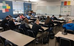Mead High students focus on an assessment