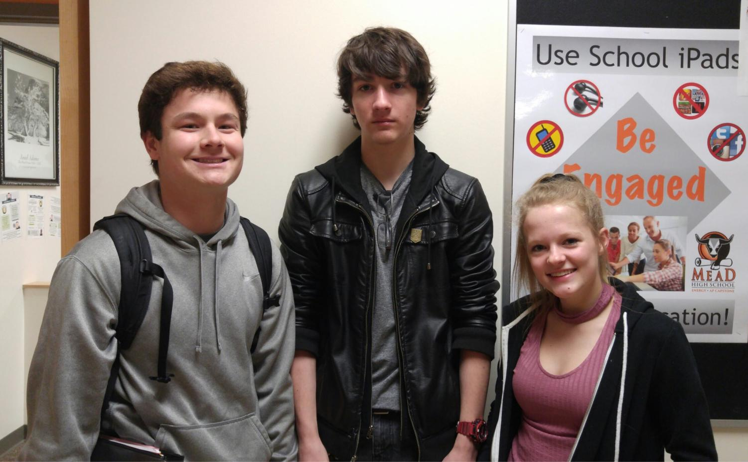 from left to right: Taylor Kamigaki, Beau Klein, and Sydney Bell