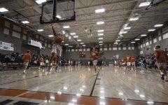 Senior basketball player Tristen Lee goes for the shot