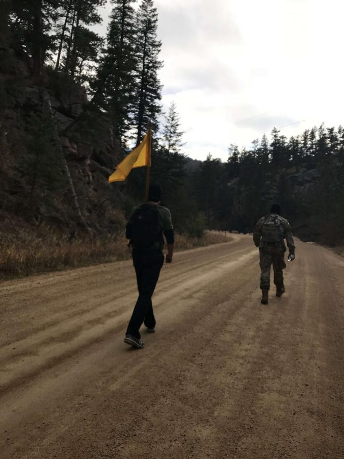 Sergeant Richie and Private Mastriona leading a hike