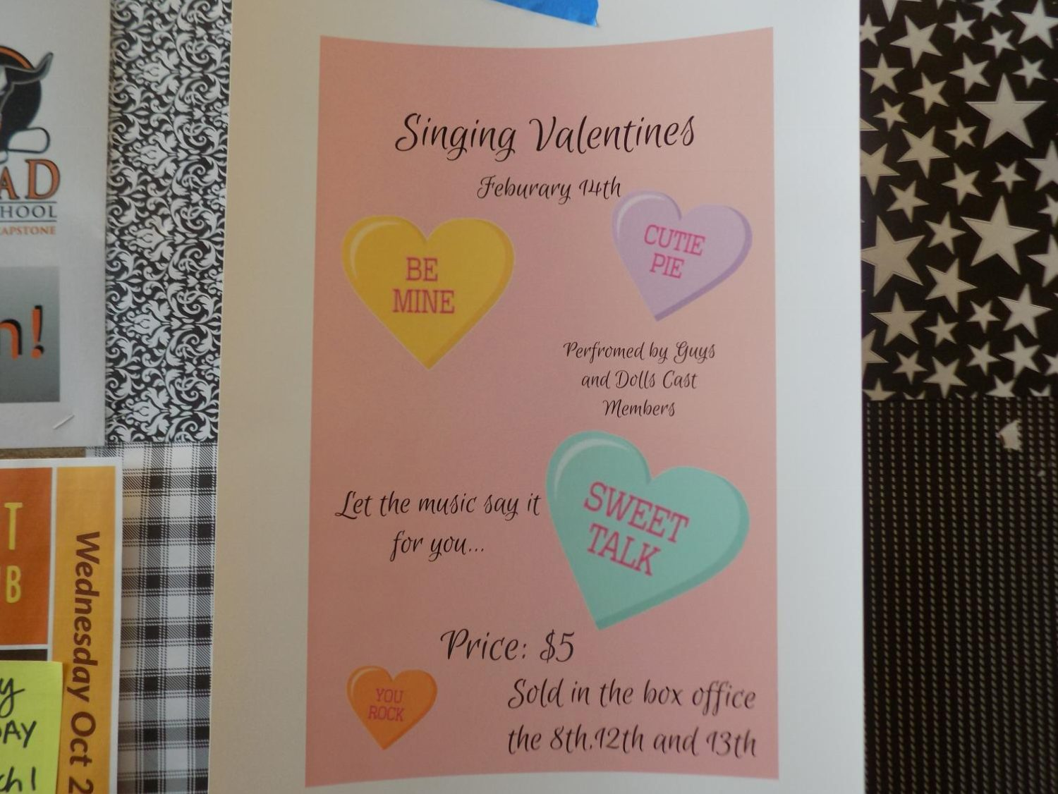 MHS' 2018 Singing Valentines Day poster.