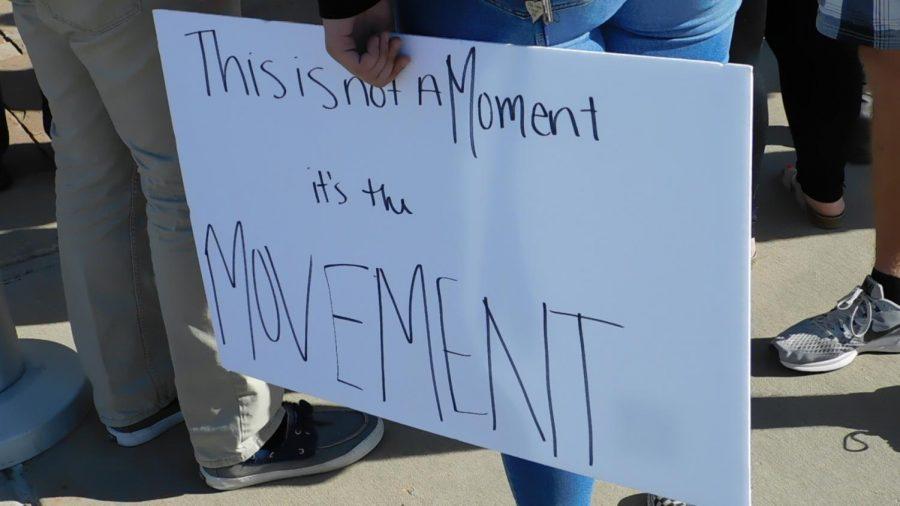 Junior Maddo Adams protests school shootings