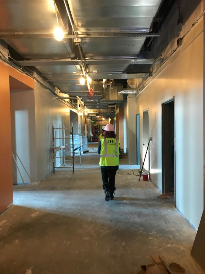 Upstairs hallway of the new wing