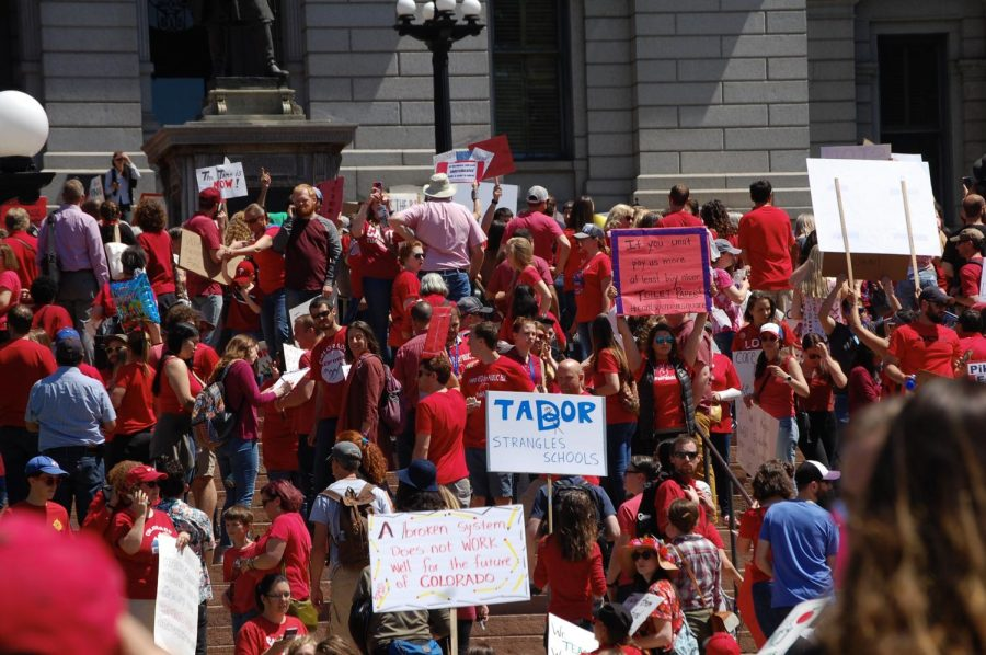 A+large+crowd+of+teachers+gathers+at+the+Capitol+to++protest+Colorado%27s+education+funding.