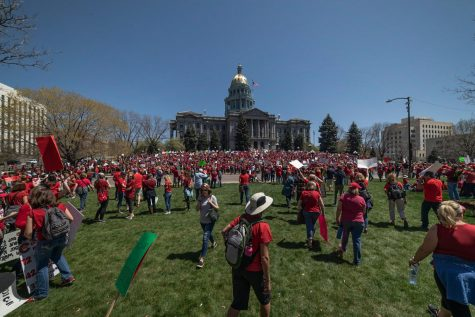 Thousands of educators gather at State Capitol to protest proposed education funding changes