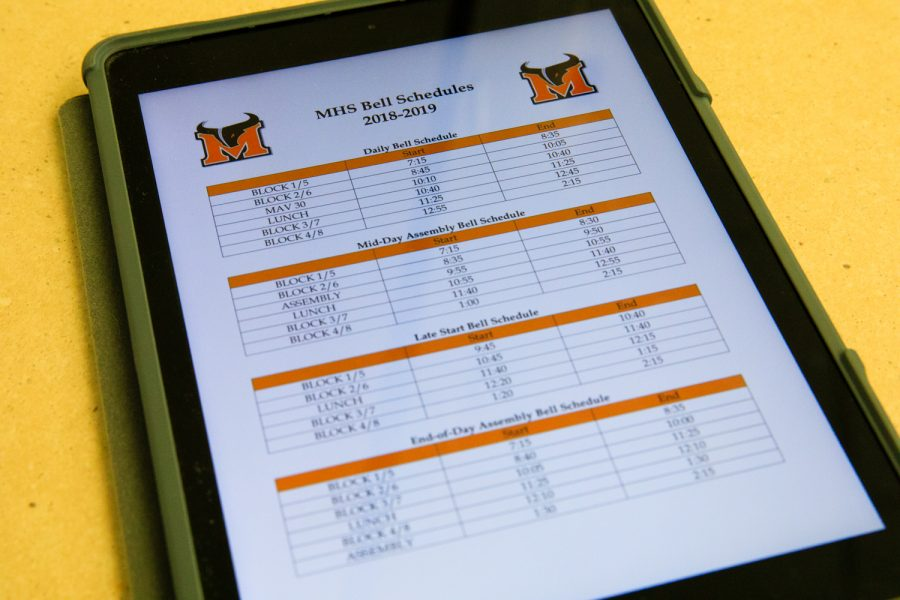 Meads new bell schedule receives conflicting views