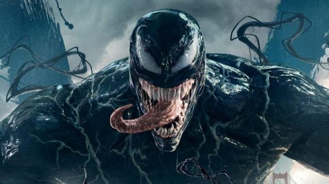 "Hardy's performance as both Eddie and Venom saved this movie from its sloppy plot and cheesy ""one-liners"""