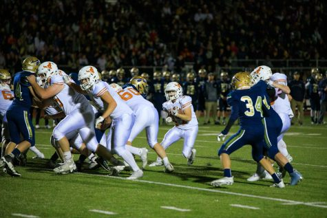 Mead Varsity Football beats Lewis-Palmer Friday night