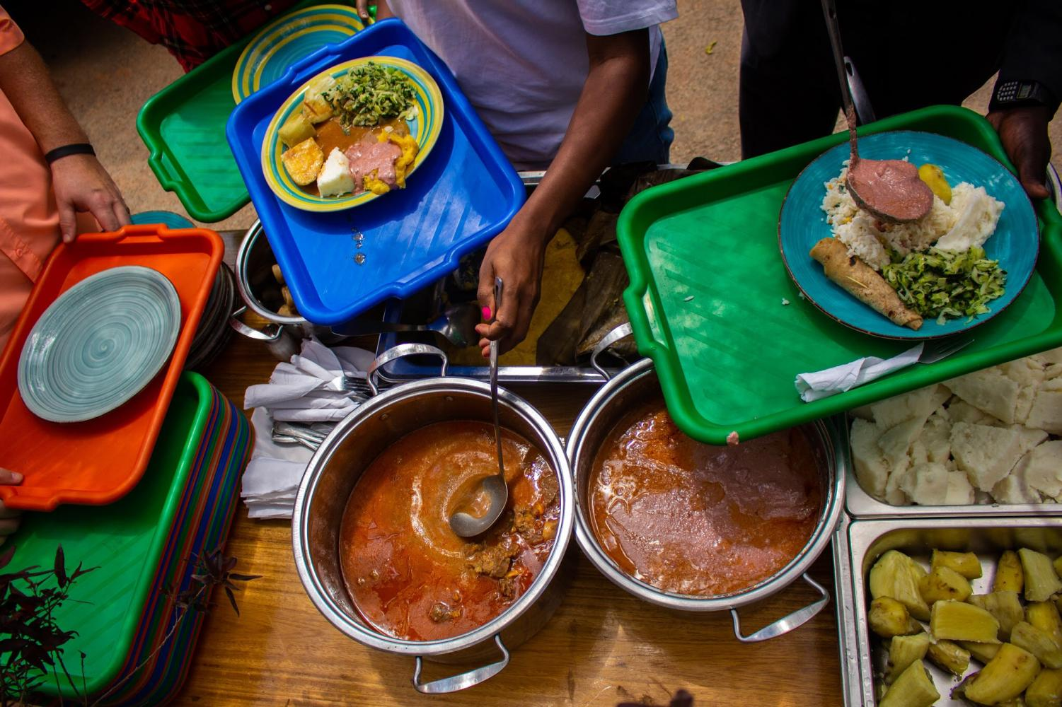 The+local+food%2C+consisting+of+Ugali+%28a+ground-nut+sauce%29+goat+meat%2C+yams%2C+bananas%2C+rice%2C+and+more