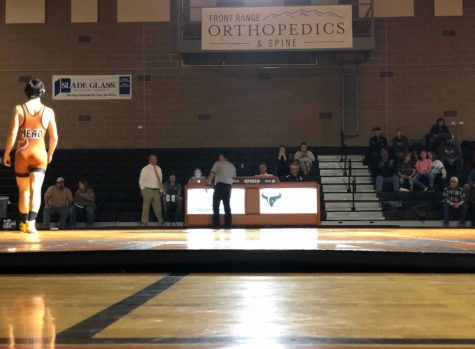 Mead's wrestling team takes on the Berthoud Spartans