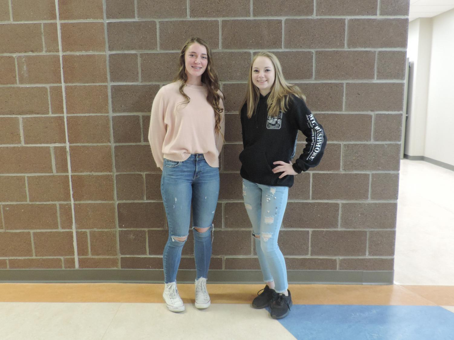 Sophomores Briahna Davis and Savanna Griebling are excited for the new basketball season.