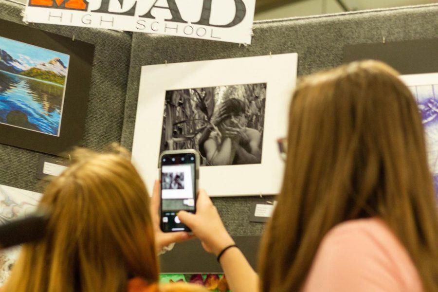 A night at Saint Vrain's student art show