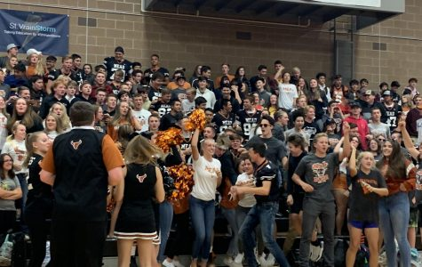 The Homecoming assembly ended the week with a bang.