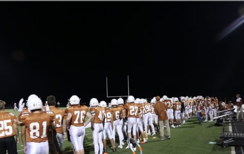 Mead's football team during their first home game