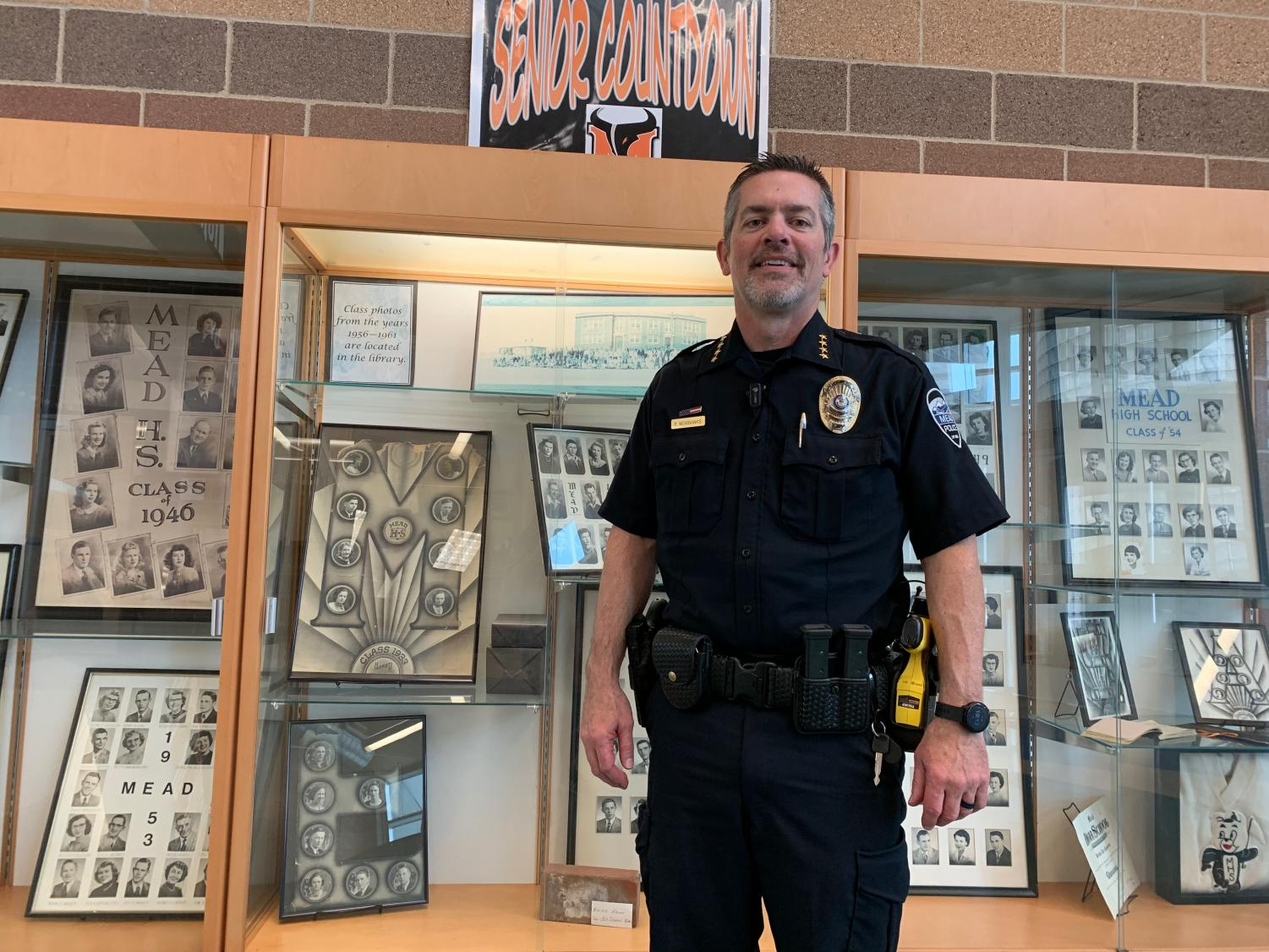 Chief of police Brent Newbanks at MHS.