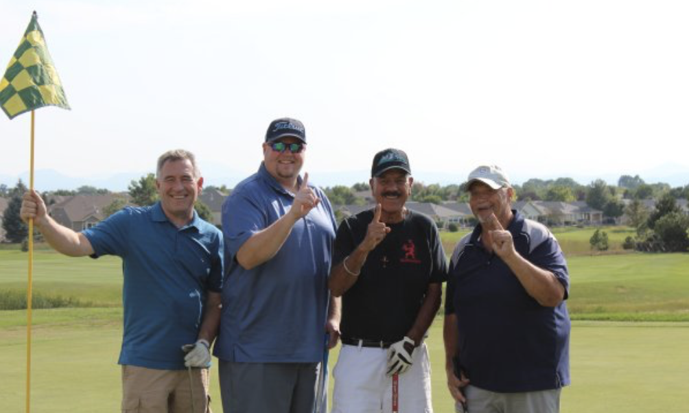 First place winners from last year's 2018 Golf Tournament: Art Quintana and the Santiago's Team.