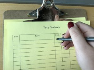 """I'm not tardy, you are!"" (Humor)"
