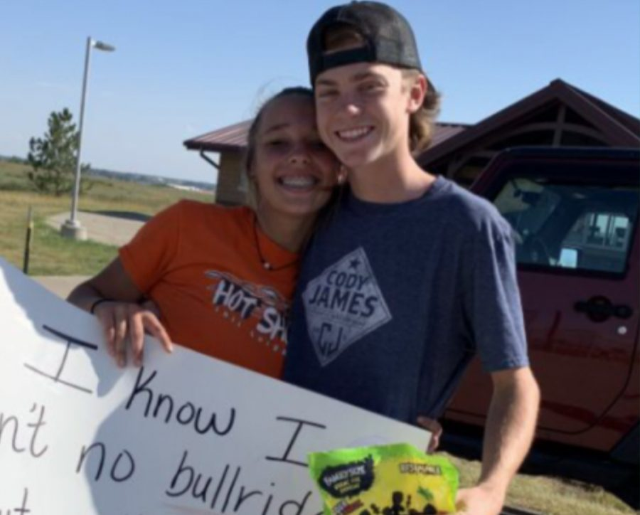 Caresn Richart and Veronica Elsis head to Homecoming together.