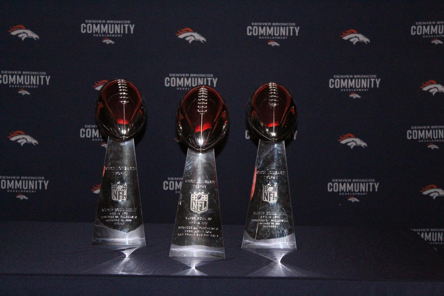 The+Broncos+Lombardi+trophy+collection.