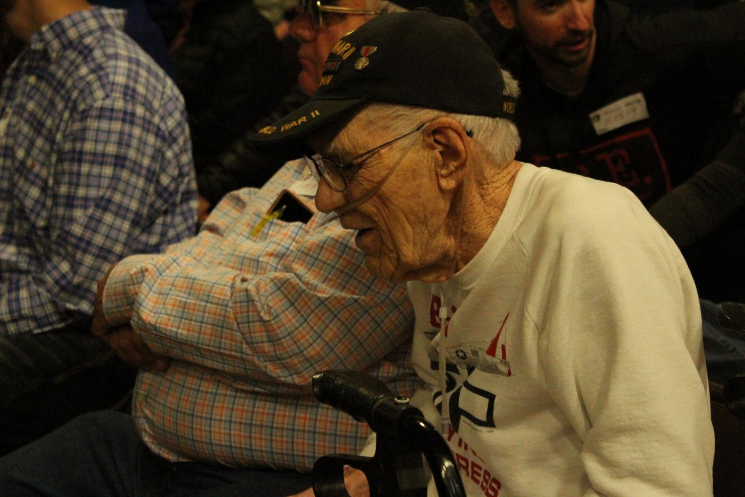 We+were+lucky+enough+to+have+a+WWII+Veteran+join+us+today.+Mr.+Hugh+McGinty+served+in+the+Air+Force+for+22+years.
