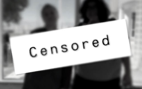 Faith Hale and Gretzky Gilman, hosts of our new podcast Censored, pose as silhouettes.