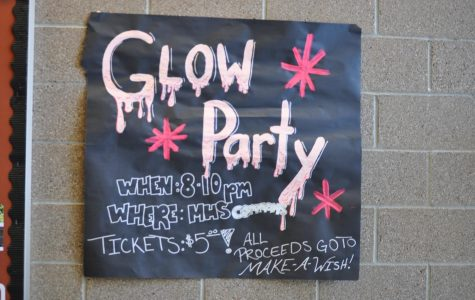 Poster for Mead High School's winter dance.