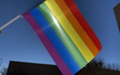 The first pride flag was made in 1978 by Gilbert Baker. He met Harvey Milk, who convinced him to make a symbol for the gay community.