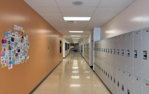 A hallway at Mead High School