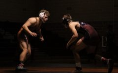 Senior Caleb Dominico faced good opponents on the mat.
