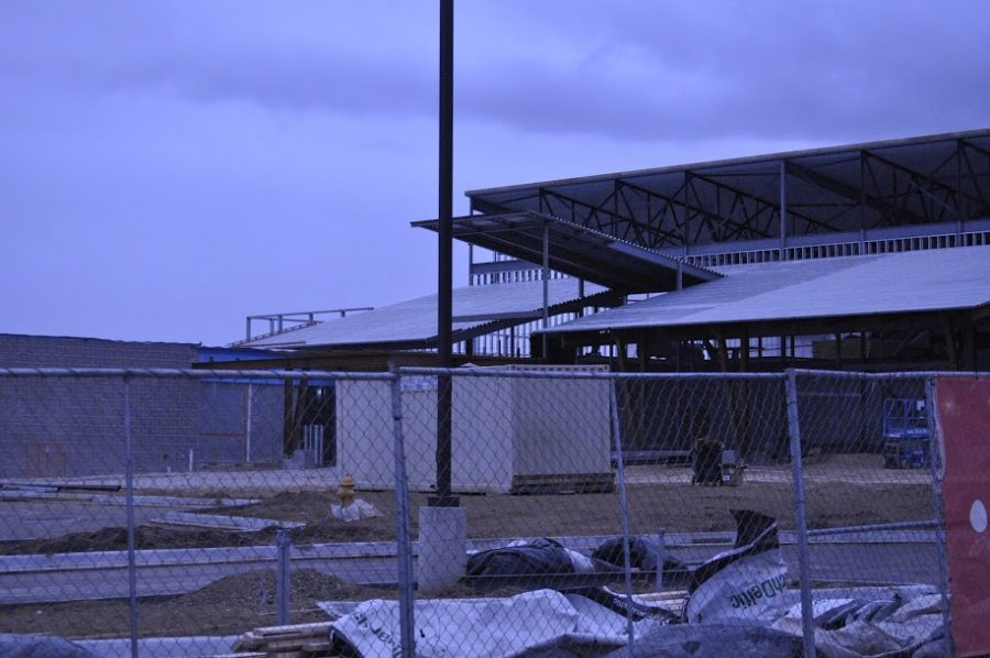 Mead Elementary School under going construction in January of 2020.