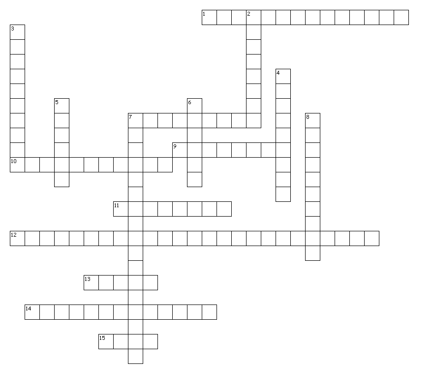 Answers to the crossword puzzle from the print edition