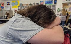 Senior falls asleep in class due to the effects of Senioritis.