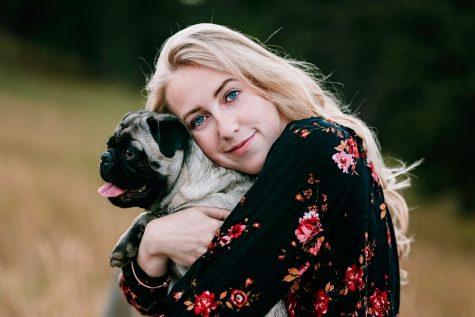 Senior Andrea Randolph and her doggo Willie