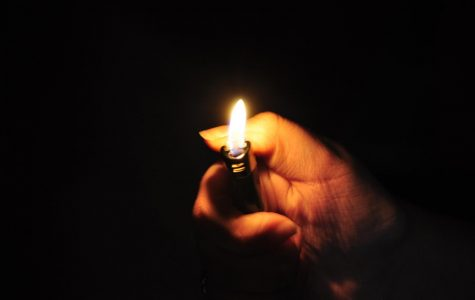 A picture of fire from a lighter.