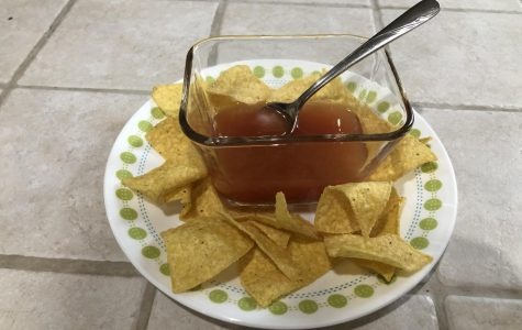 A picture of chips and salsa.