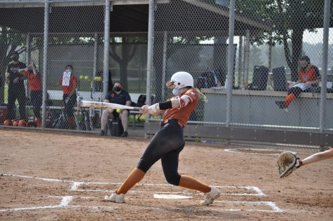 Savanna Griebling (21) has been an exceptional player this year. She plans on attending college on a softball scholarship as a result of her hard work and dedication.