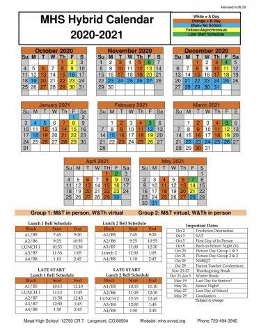 Hybrid Calendar and Bell Schedule