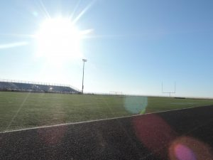Graduation will be held on the football field this year.