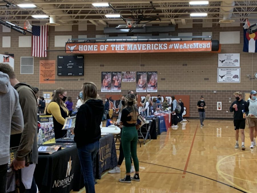 """Breanna Clark, Western Colorado University regional director of recruitment, """"really love[d] chatting about what students are interested in"""" when looking into colleges."""