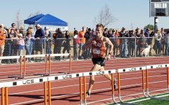 Nolan Hoffman (23)competes in the 2021 Mead Stampede at Mead High School.